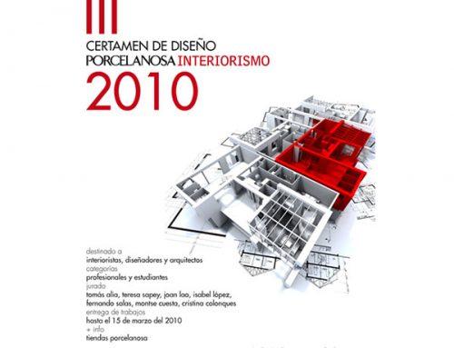 Segundo premio en el III certamen de PORCELANOSA INTERIORISMO. Marzo 2010.